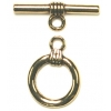 Toggle Plain Antique Gold 16mm